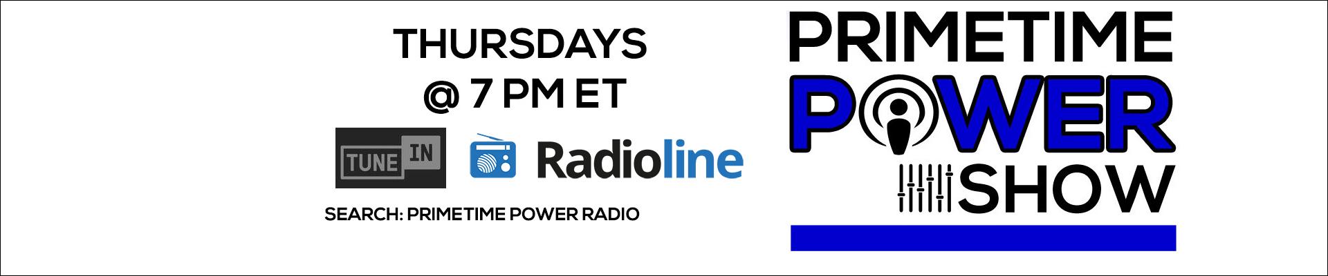 Primetime Power Show on Primetime Power Radio